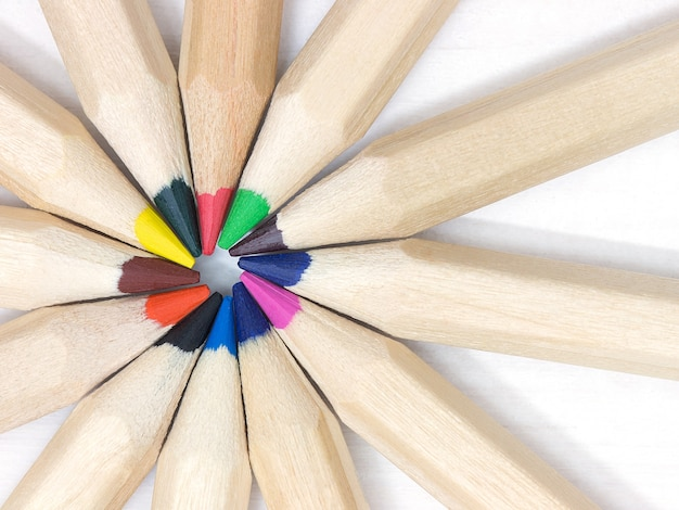 Group of colorful pencil. team teamwork togetherness collaboration concept