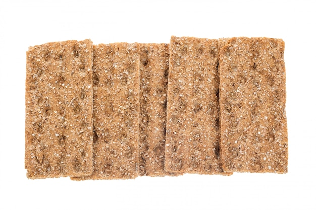 Group of crispbreads isolated