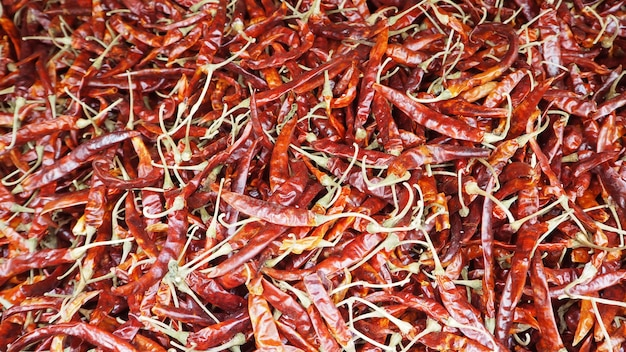 Group of dried chilli.