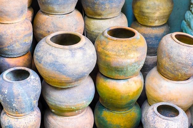 Group of earthenware jar,flower pot
