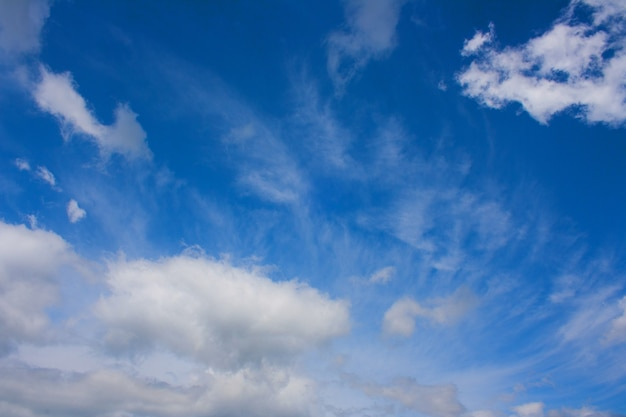 A group of feathery summer clouds in a blue sky