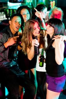 Group of friends in nightclub