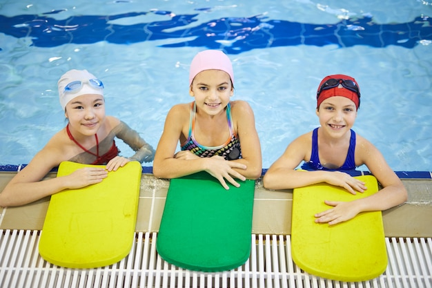 Group of girls in the pool
