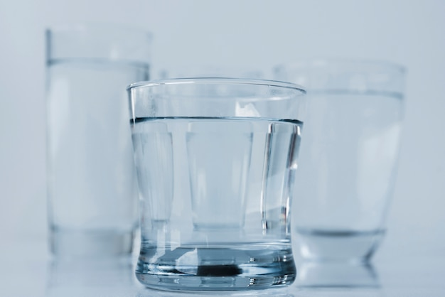 Group of glasses of water