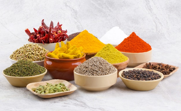 Group of indian spices