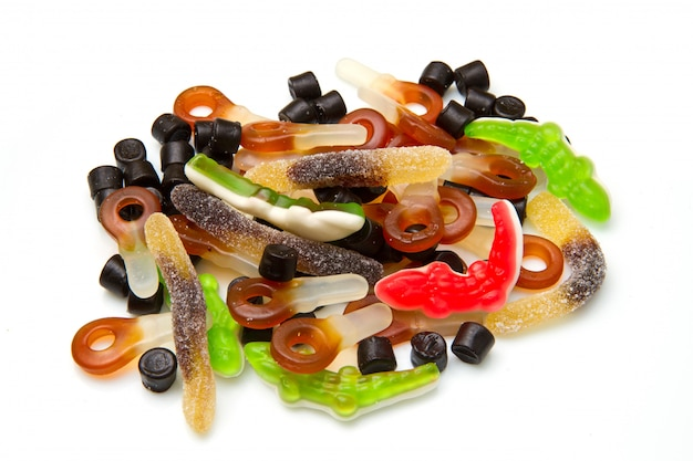 Group of mixed candies
