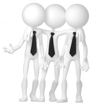 会議で相互作用するビジネス人々のグループ