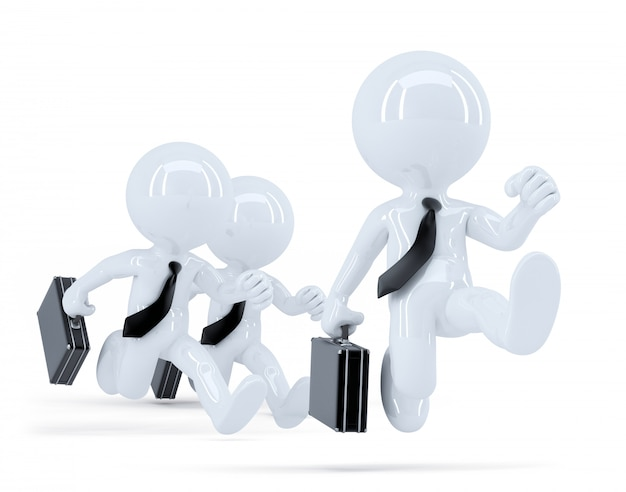 Группа бизнесменов работает. бизнес-концепция