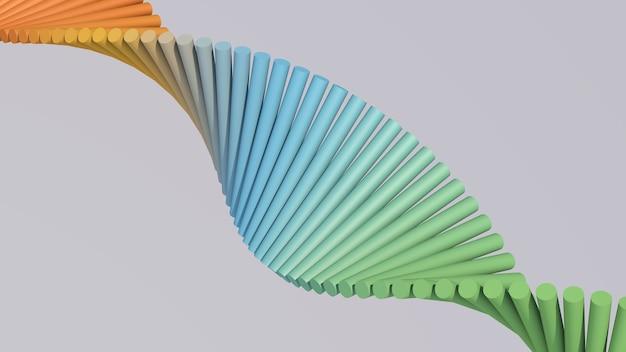 Группа красочных вращающихся цилиндров. серый фон. абстрактная иллюстрация, 3d визуализация.