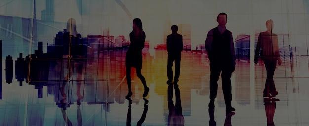 다양 한 사업 사람들의 그룹