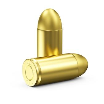 Группа золотых пуль на белом
