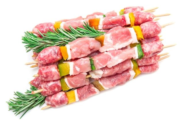 로즈마리와 고기 꼬치의 그룹
