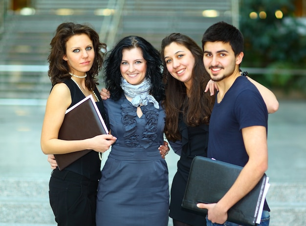 메리 학생들의 그룹.