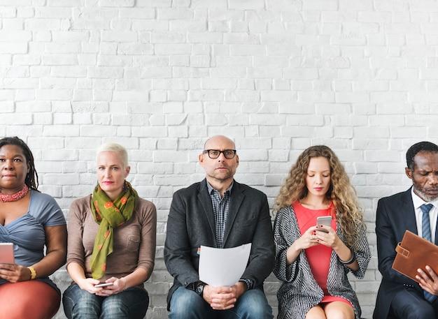 人々のライフスタイル職業概念のグループ
