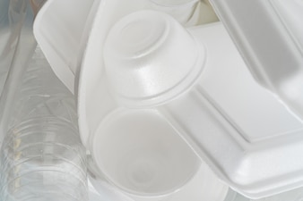 Group of Products made of plastic and foam