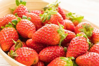 Group of Strawberry or Strawberries fruit