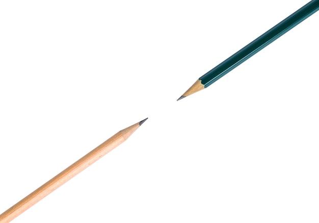 Группа деревянных карандашей в студии