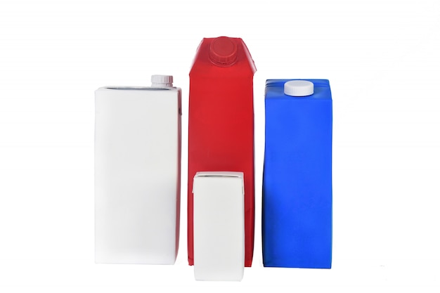 Group of package of carton isolated