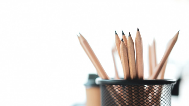 Group of pencils isolated