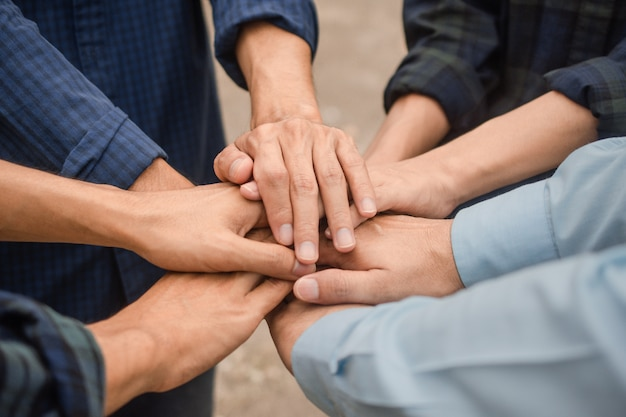 Group people friendship partner business community