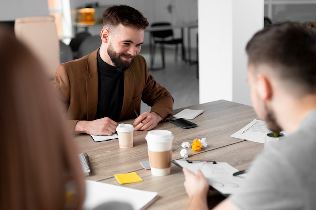 Group of people having a meeting for a vacant job
