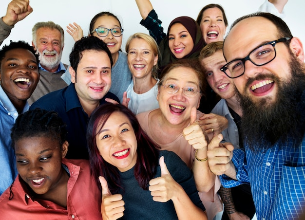 Group of people togetherness concept