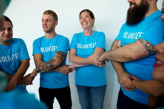 Group of people volunteer concept