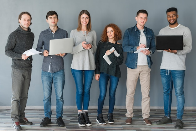 Group of people with laptops