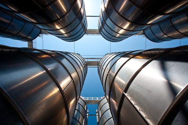 Group of petrochemical silos : concept for industry