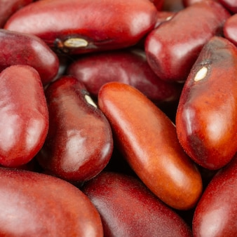 Group of red beans on close up