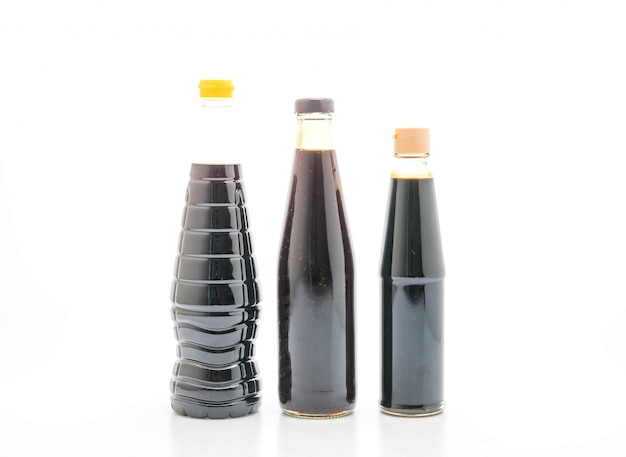 Group of sauce bottle condiment for cooking