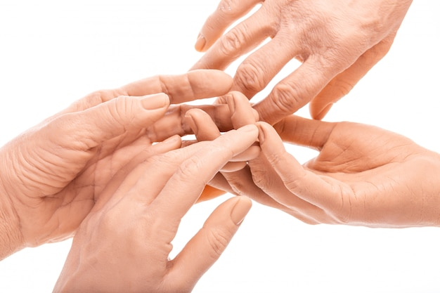 Group silicone prosthesis hands, medicine pink implants