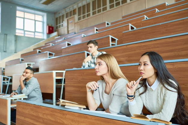 Group of students in lecture hall