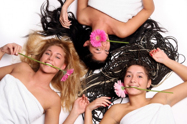 Group of three beautiful girls