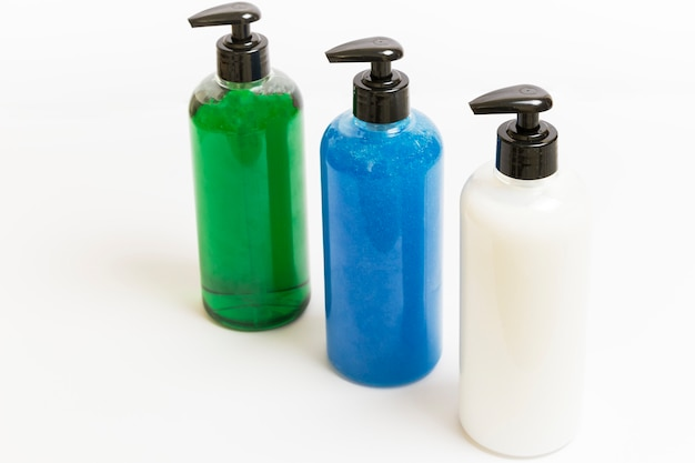 Group three soap dispensers
