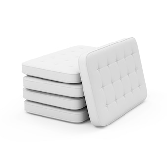 Group of white bed mattress