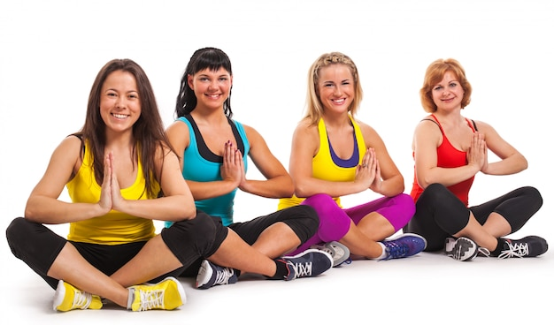 Group of women enjoying yoga