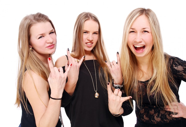 Group of young girlfriends
