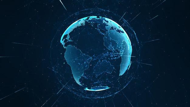 글로벌 네트워크 및 데이터 연결 개념을 성장.