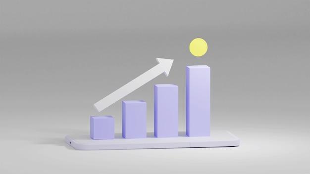 Диаграмма роста в 3d-рендеринге