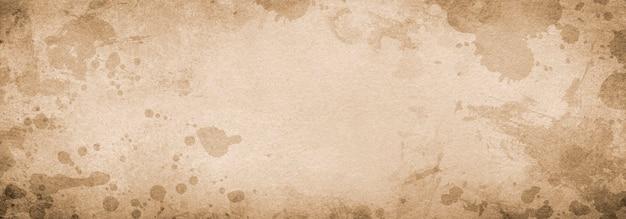 グランジ背景バナー茶色の紙