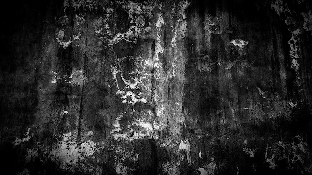 Grunge background of black and white old wall
