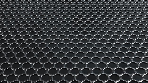 六角形のテクスチャとグランジ背景。 3 dレンダリング、3 dイラストレーション