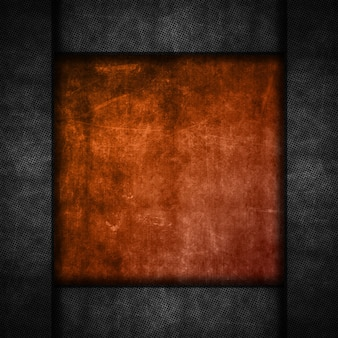 Grunge background with a perforated metal border