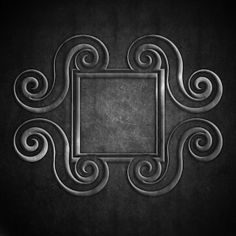 Grunge background with vintage ornamental frame