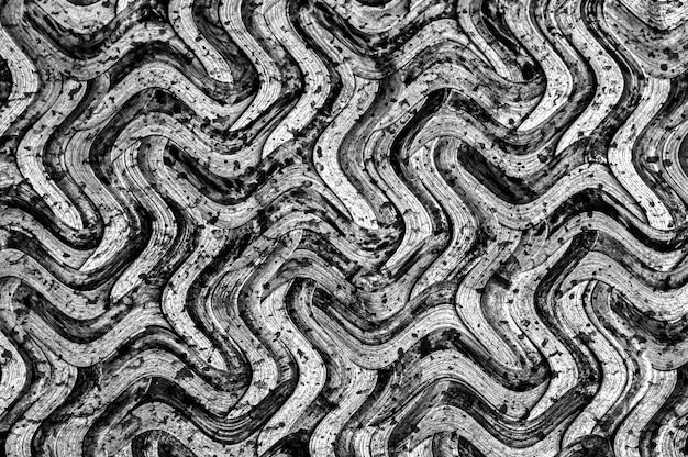 グランジ黒と白の竹織りテクスチャ抽象的なテクスチャ背景