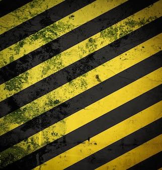 경고 또는 위험 배경으로 그런지 검정색과 노란색 표면