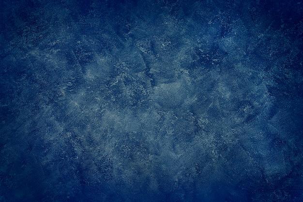 Гранж синий цвет стены, абстрактный синий цвет краски. разработанный гранж на стене текстуры
