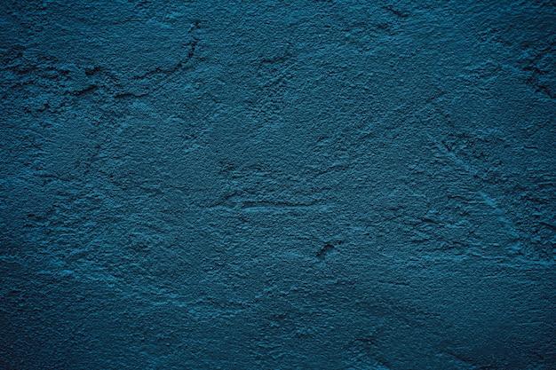紙の背景のテキストのための空のスペースとグランジブルーダークセメント壁テクスチャ背景。