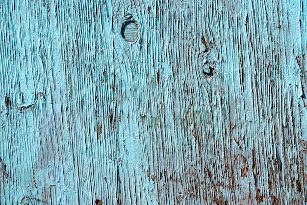 Grunge blue wooden plank